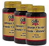 Chitosán + té rojo + té verde + C. 100 capsulas (Pack 3 unid.)