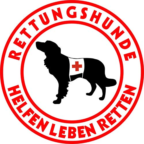 Holashirts Mallorca Nederlandse Kooikerhondje Kooiker Rettungshund Auto-Folien-Aufkleber Hundeaufkleber Sticker (Ø150mm)