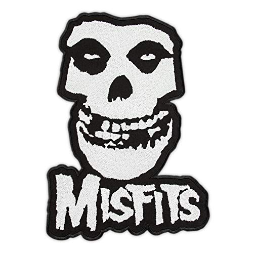 The Misfits Patch - Embroidered Crimson Ghost Skull - Punk Rock Band Logo Patches - Horror Punk Music - Iron On Embroidery - Size: 10.8 x 15.6 inches