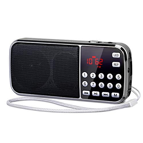 [Actualizado] PRUNUS J-189 Am/FM Radio Portatil Pequeña, Radio Bluetooth con Doble de...
