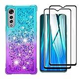 HAOTIAN Case for LG Velvet 5G/4G Case + 2 Screen Protector,