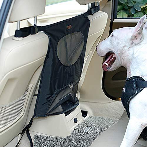 DogLemi Car Pet Seat Barrier, Car Barrier for Dog, Safety Isolation Barrier Car Pet Restraint Fence Protector Partition Gate with Adjusting Rope Prevent Dog Harassment Safe Travel