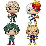 4Pcs Figuras Pop My Hero Academia Deku # 247 Katsuki # 249 Todoroki # 372 All Migh # 248 Figuras De Acción Juguetes 10Cm, PVC Colección Muñecas Regalos para Niños Figura