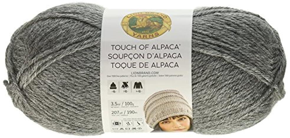 Lion Brand Yarn 674-150 Touch of Alpaca Yarn, Oxford Grey