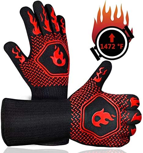 BBQ gloves 1472 heat resistant and heat resistant gloves Silicone anti slip gloves for microwave product image