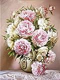 5D diamante pintura flor diamante bordado mosaico punto de cruz rosa decoración del hogar diamante pintura A4 40x50cm