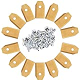 qfkj Hand Tool 45pcs Lawn Robot Blade Golden Titanium Plating Lawn Mover Replacement Blade for Automatic Moving Machine Essential Drive Socket (Color : 30pcs)