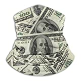 100 Dollar Money Seamless Face Mask Bandanas Neck Gaiter for Dust, Breathable Sun Protection Cool Windproof