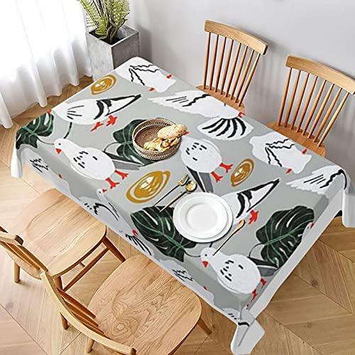Tafelkleed 60 x 90 inch morsbestendig, sinaasappels witte duiven tafelhoes voor lente zomer binnen en buiten gebruik tafelkleed voor woondecoratie, dineren, vakantie, feesten