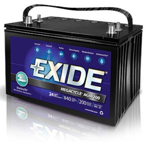 Exide XMC-1 MEGACYCLE AGM-200 Marine Battery