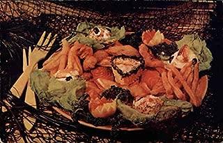 Ideal Fish Restaurant Santa Cruz, California Original Vintage Postcard