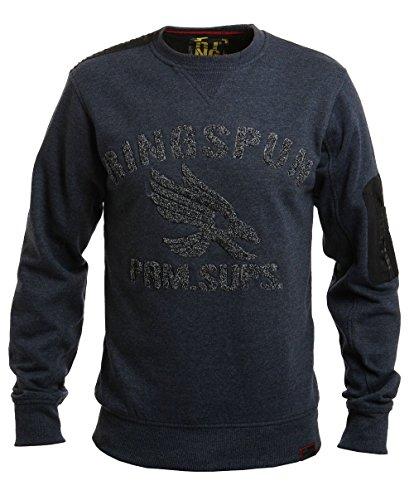 Ringspun Minworth, Sweatshirt mit Rundhalsausschnitt, blau-meliert