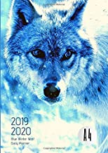2019-2020 Back To School Planner With Hours White Wolf Goals A4 Academic Daily Organizer: Hourly Schedule In 15 Minute Interval; Class Semester ... & Weekly Journal; Useful For UK & US Students