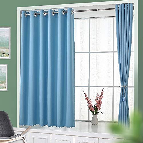 BOLO Cortinas opacas de aspecto de lino con aislamiento térmico para dormitorio y sala de estar, 1.8XL2M