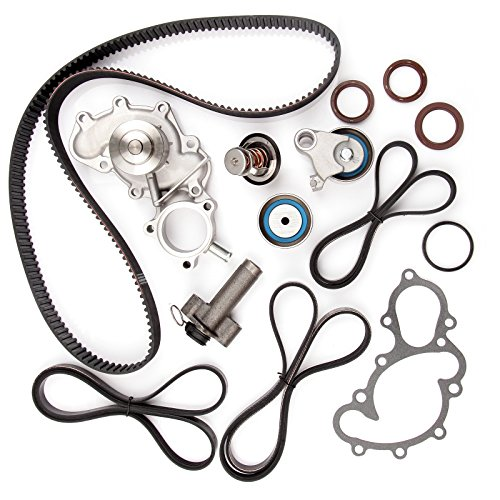 ECCPP New Timing Belt Water Pump Kit Fits for 1995-2004 Toyota Tacoma Tundra 4Runner T100 3.4L V6 DOHC 24 Valve 5VZFE Engine