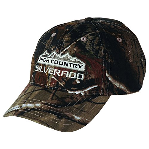Gregs Automotive Silverado High Country Chevrolet Chevy Realtree Camo Camouflage Hat Cap Bundle with Decal (2 Items) 1 Hat and 1 Driving Style Decal
