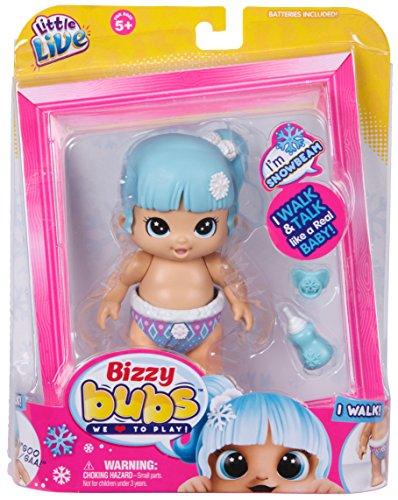 Little Live Bizzy Bubs Muñeca 28470 'Walking Baby Snowbeam