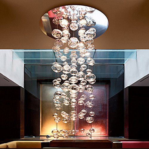 YAN JUN Lampadario a bolle di vetro Semplice e moderno Lampadari a bracci Creatività personalità arte negozio di abbigliamento camera da letto Soggiorno illuminazione Sfera a bolle trasparente ++
