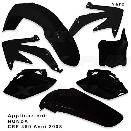 x-fun kit Plásticos HON crf 450(2008) Negro