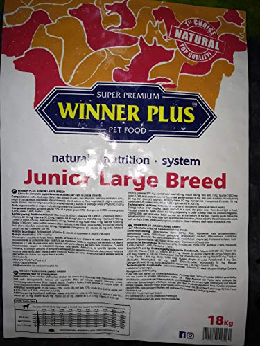 Winner Plus Junior Large Breed - Alimento Secco per Cani 18kg per Cani di Taglia Grande