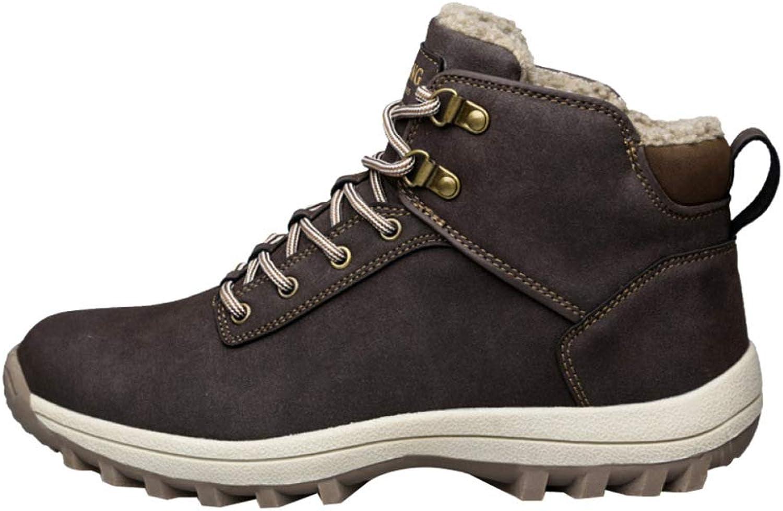 Men's shoes Winter Snow Boots Warm Outdoor Waterproof Fur Lined Ankle Lace Up Trekking Men's Work Utility Footwear