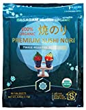 DAGAGAM Organic Roasted Seaweed, 50 Full Sheets, Sushi Nori, USDA, Non GMO, Gluten Free
