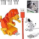 Cable de carga para perros callejeros de 1,2 m, cargador de cable USB para teléfono inteligente de juguete para perros para varios modelos de teléfonos móviles (naranja, Para Iphone)