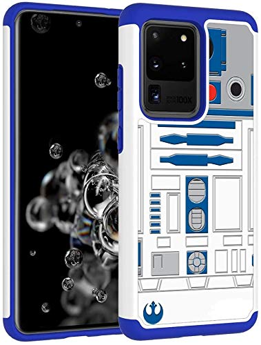 Galaxy S20 Ultra Case - R2D2 Droid Robot Pattern Heavy Duty Shock-Absorption Hard PC and Inner Silicone Hybrid Dual Layer Armor Defender Protective Case Cover for Samsung Galaxy Ultra (6.9 inch)