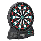 FastUU Sports Electronic Dartboards, Talking Electronic Dartboard Magnetic Dart Board, for Adults, with Music and Sound Reminding, LCD Digital Scoring, for Up to 8 Players, 18 Games 159 Options