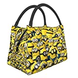 Minio-ns Portable Bento Lunch Bag Picnic Bag Handbag Big Meal Preparation Cute Bag