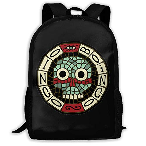 sghshsgh Sac de Marin,Scolaire Collège Sac à Dos,Backpack for Men Women,Oingo Boingo Logo Backpacks Hiking Laptop Backpack Travel Large Shoulder Bags for School Shopping Outdoor Sports