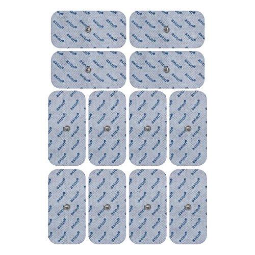 12 Electrodos de 10x5 cm - aparatos TENS EMS electroestimulador VITALCONTROL & Beurer - axion