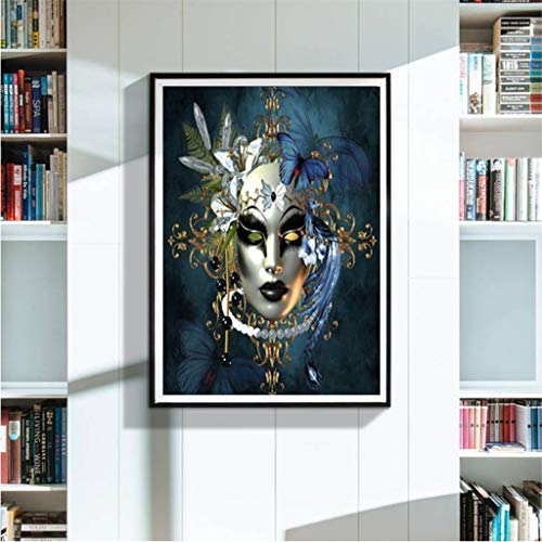 Vibolaa 5D DIY Diamond Painting Kit,Green Leaf Queen Diamond Painting for Adults,Full Round Drill Embroidery Rhinestone Cross Stitch Art