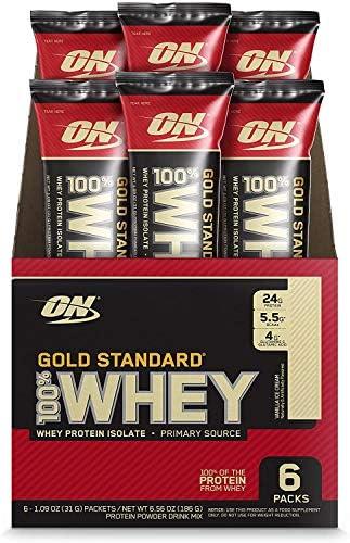 Optimum Nutrition Gold Standard 100 Whey Protein Powder Individual Stick Packs Vanilla Ice Cream product image