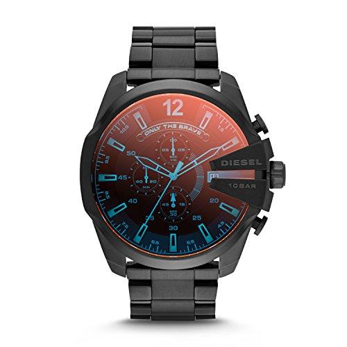 Diesel Men's 51mm Mega Chief Quartz Stainless Steel Chronograph Watch, Color: Black (Model: DZ4318)