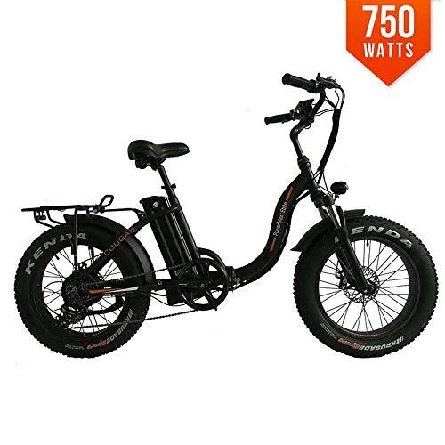 PowerMax Ebike Cougar Folding Electric Bicycle 48V BAFANG 750W Motor 20 Inch Fat TIRE Mini Foldable...