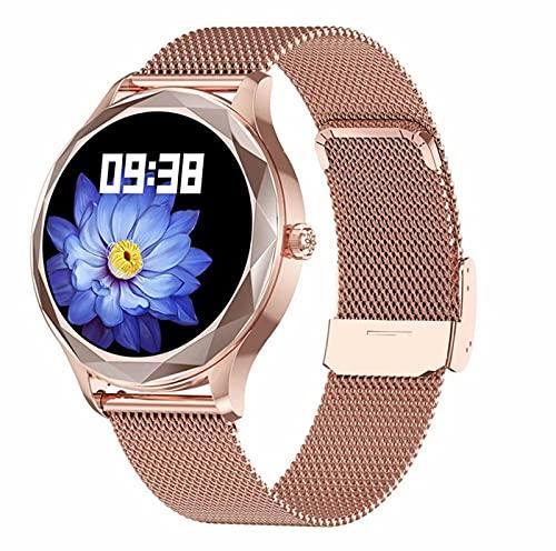 LSQ 2021 Acero Inoxidable Reloj Inteligente Mujeres IP68 Impermeable Pulsera Preciosa Pulsera Monitor De Ritmo Cardíaco Reloj De Pulsera Electrónica,D