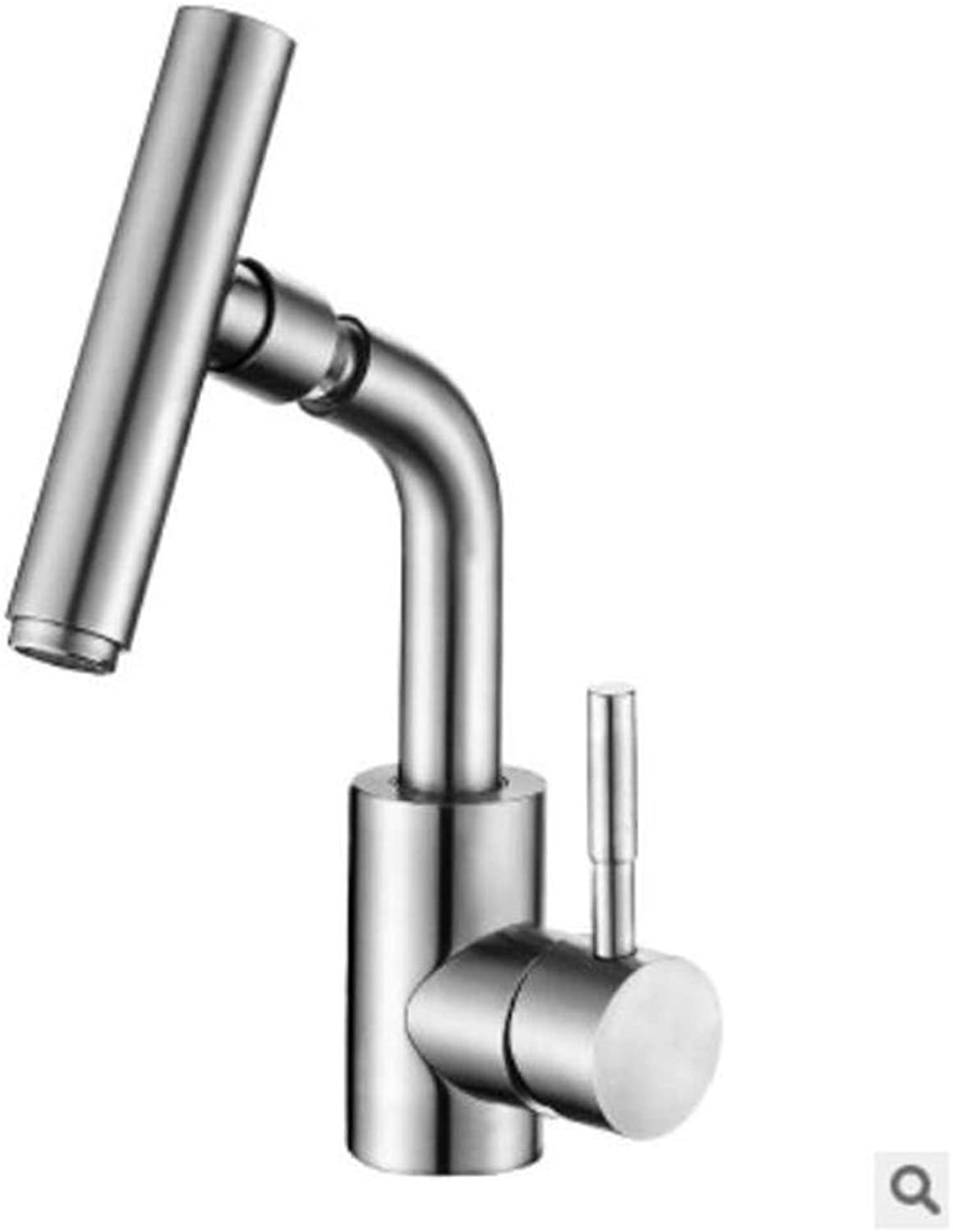 Oudan Stainless Steel Kitchen Faucet Sink Faucet Caipen Faucet Hot and Cold Taps (color   -, Size   -)