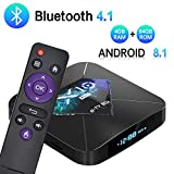 SUMGOTT TV Box Bluetooth 4.0 (4G + 64G) Amlogic S905X2 Quad-Core-Cortex-A53-CPU 2 GB Box Android-TV Wi-FI 2.4G / 5.8G / mit HD / H.265 / 4K / 3D / BT4.1 [Version 2019 Letzte]