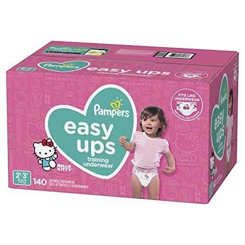 Pampers Easy Ups Training Girls Underwear, Size 4, 140 Count