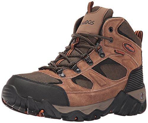 Nevados Men's MESA MID Hiking Boot, Brown/Orange/Black, 8 M US