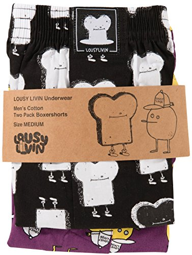 Lousy Livin Toast und Zitrone Boxershorts 2er Pack (Small)