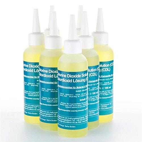 vitalundfitmit100 Chlordioxid Lösung 0,3% - CDs/CDL - Sparpaket 5+2 gratis - 7 Flaschen CDs CDL à 100 ml - Chlordioxidlösung nach Originalrezeptur - Made IN Germany