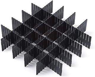 WeFoonLo 8pcs Bricolage tiroir en Plastique Organisateur diviseurs de tiroir réglable pour la Maison Bien rangé Placard, F...