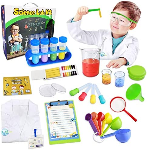 UNGLINGA Kids Science Kit Lab Coat Set First DIY Chemistry Experiment Activity Exploration STEM product image