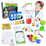 UNGLINGA Kids Science Kit Lab Coat Set First DIY Chemistry Experiment Activity Exploration STEM Toys, A Great Educational Gift Scientific Tools Pretend Play Scientist Costume for Boys Girls Age 6+