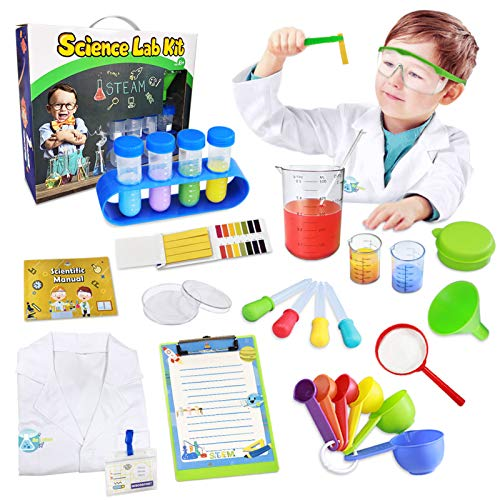 UNGLINGA Kids Science Kit Lab Coat Set First DIY Chemistry Experiment...