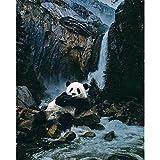 Panda 5d diamond painting kit full drill DIY 5D conjunto completo de pintura de diamantes punto de cruz set animal panda diamante con incrustaciones de diamantes bordado decoración del hogar@60x75cm
