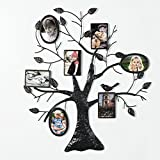 Adeco 7 Openings Decorative Black Metal Family Tree Picture Photo...