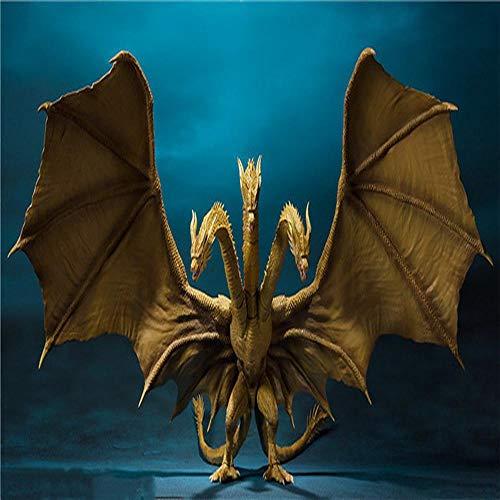QIYA Godzilla Rey De Los Monstruos Quitola El Móvil De Tres Cabezas del Dragón Segunda Generación De Caracteres Estatua 30cm